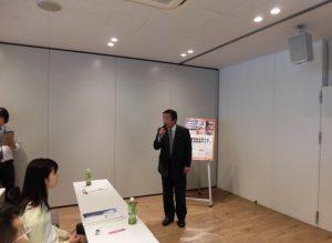 当協会県央支部長の(株)小島組会長の挨拶