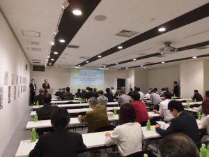会場は北海道新聞社の会議室で満室状態