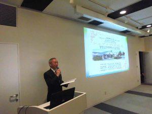 千歳・恵庭市支部の吉田支部長の講演 我国初の合法民泊「ホームスティ型シェアハウスの実例紹介」